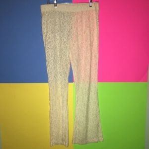 Aerie Lace Pants See Thru Size Large